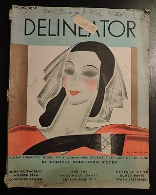 Vintage Delineator March 1930 Magazine Art Deco Advertising & Fashion