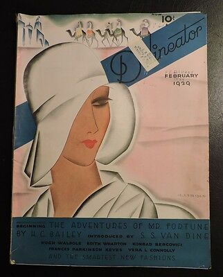 Vintage Delineator February 1929 Magazine Art Deco Advertising & Fashion