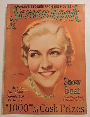 Vintage Screen Book September 1929 Movie Magazine Laura La Plante Art Deco 114Pg