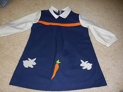 Vintage Carol Evans Penn Prest Dress -Navy & Orange Size 6X