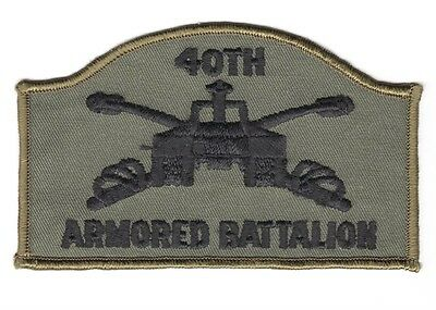 Army Patch:  40th Armored Battalion - subdued