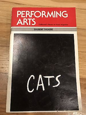 Performing Arts Mag. CA  Shubert Theatre, CATS AUGUST 1985