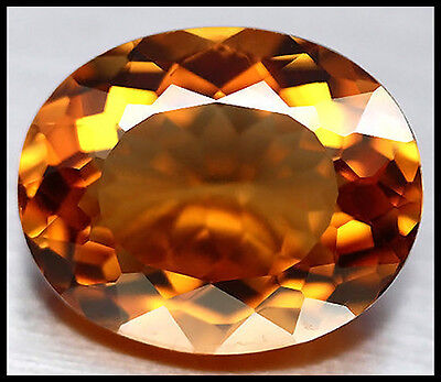 BUY IT NOW!!! LARGE VVS 11.17ct IMPERIAL ORANGE MADEIRA CITRINE OVAL FACET