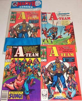 1984 Marvel The A-Team #1 2 & 3 Bagged Boarded Comic Book Lot of 2 Sets 1 Sealed
