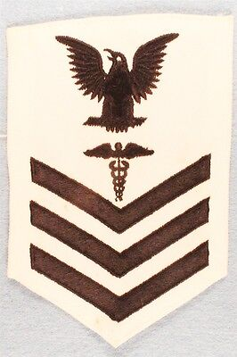 USN Navy Rate:  PO1, Hospital Corpsman - white