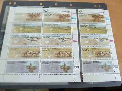 Nice South Africa Stamps With Elephants Sheet And Strip Of 5 Mnh  Rs