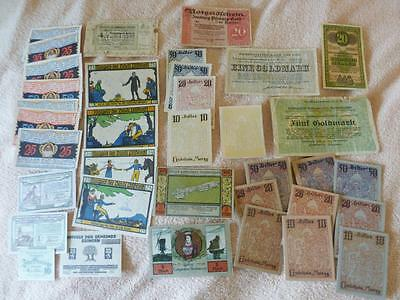 Germany Notgeld Lot Including Hungary Pow Camp Note And Error Note Nice Lot   Rs