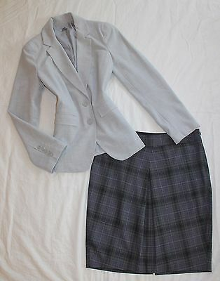 THE LIMITED Size 6 Women's Skirt Suit Gray Purple PERFECT!