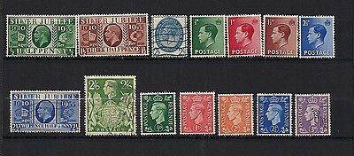 Great Britain lot of 14 early stamps.