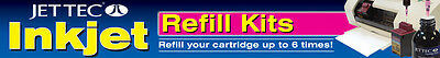2 x Jet Tec R30 Colour Refill Ink Kit, Suits Canon Cartridges PGi-5 CLi-8