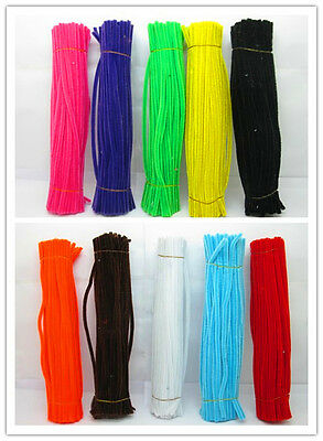 1000 Chenille Stems Craft Pipecleaners 30cm Long mixed color