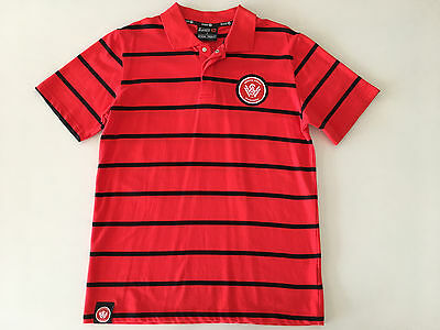 Western Sydney Wanderers Fc Knitted Polo Shirt Mens S Small Only New