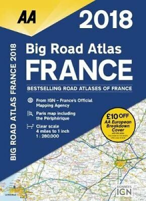 AA Big Road Atlas France 2018 by AA Publishing 9780749578688 (Paperback, 2017)