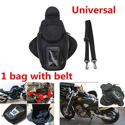 1Pcs Black Waterproof Motorcycle Oil Fuel Tank Bag Magnetic Motorbike Riding Bag