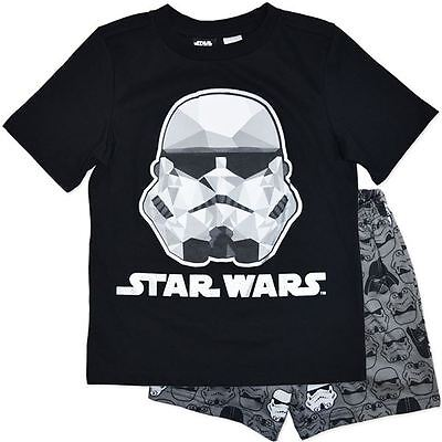 New Star Wars Stormtrooper Darth Vader Black Boys Pjs Pyjamas Size 9,10,12,14,16