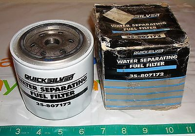 Mercury Marine Quicksilver Water Separating Fuel Filter 35-807172 New Old Stock