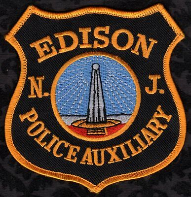 Edison New Jersey Police Auxiliary Shoulder Patch  N.J. Version