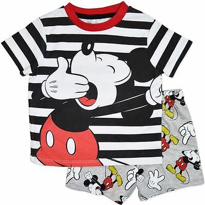 New Disney Mickey Mouse Boys Pj Pyjamas Set Size 2,3,4,5,6,7