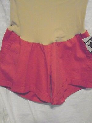 Nwt: Oh Baby Motherhood Maternity Burnt Orange/ Cuffed  Shorts Large
