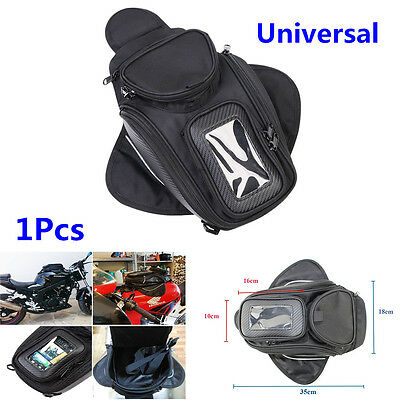 1Pcs Magnetic Motorcycle Motorbike Oil Fuel Tank Bag Black Universal Waterproof