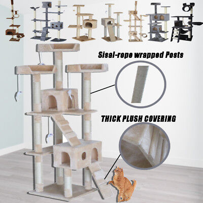 Cat Tree Furniture Scratcher Poles Post House Gym Cat Condo