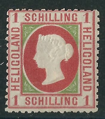 q237)  Heligoland. 1869/73. Fine MM. SG 8 1s Rose & yellow-green. c£150+