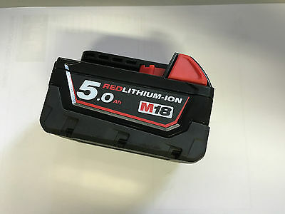 MILWAUKEE M18B5 18V 5.0Ah RED LI ION BATTERY FOR CORDLESS TOOLS NEW