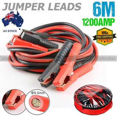 1200AMP Heavy Duty Jumper Leads Jump 6M Long Booster Cables Surge Protected