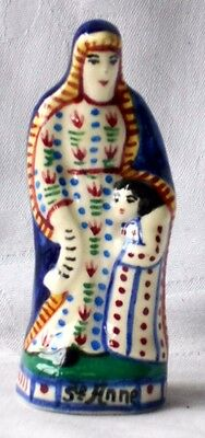 Henriot Quimper French Faience Figure Of Saint Anne