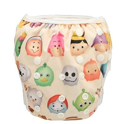 1 LARGE Swim Diaper Nappy Pants Adjuatable Reusable Baby Toddler Animal Face