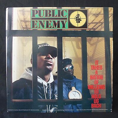 PUBLIC ENEMY It Takes A Nation Of Millions…DEF JAM Lyric Inner US Press LP EX