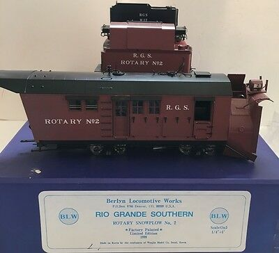ON3 Scale Berlyn Locomotive Works Rio Grande Southern Rotary Snowplow