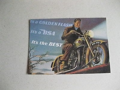 Bsa Golden Flash 1951 Classic Bike  Postcard Of An Original Ad New