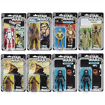 Star Wars 40th Anniversary The Black Series 6 Inch Action Figure Wave 2 set of 8