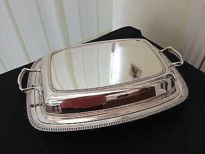 vintage silver plated entree dish
