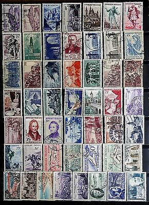 France: 1940's To 1950's Era Stamp Collection