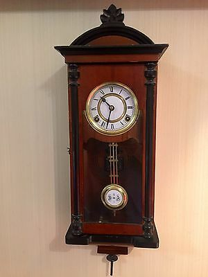Victorian Wall Clock Small  30 Day Wind Up Strikes Hour And Half Hour