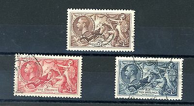 Great Britain 1934  Seahorse Set of 3  SG 450/2  very fine used   (Jy009)