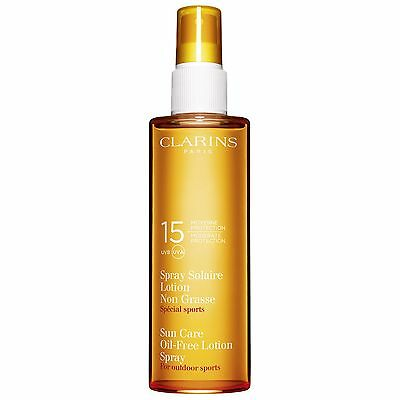 Clarins Sun Care Spray Oil-Free Lotion UVB15 Moderate Protection for Outdoor Spo