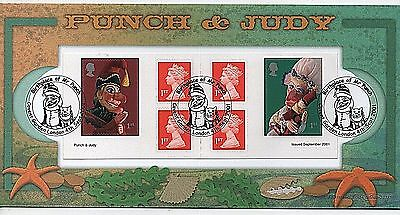 "2001 ""Punch & Judy Retail Booklet"" Limited Edition Benham First Day Cover"
