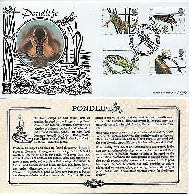 "GB Stamps 2001 ""Pond Life"" Limited Edition Benham ""GOLD"" First Day Cover"