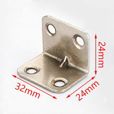 Lots 3/10/50pcs Stainless Steel L Angle Corner Support Brackets Hardware Braces
