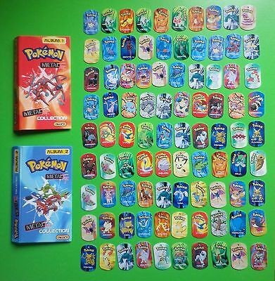 90 x POKEMON METAL TAGS PLUS 2 ALBUMS