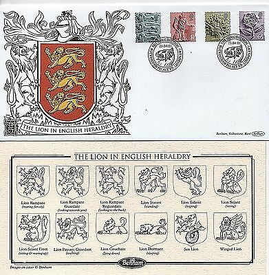 "2001 ""English Heraldry Definitives"" Ltd Edition Benham ""GOLD"" First Day Cover"