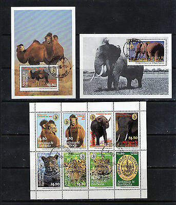 Stamps & Mini Sheets overprinted BARBUDA MAIL.