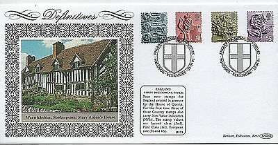 "23-4-2001 ""England Definitives"" Limited Edition Benham First Day Cover"