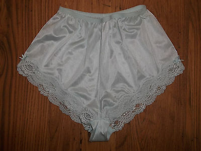 Vtg Original 70s St Michael Nylon Lacy Satin Bows French Knicker Panties UK10-12