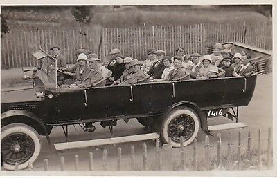 Stunning 1920S Real Photo Postcard Of A Charabang Bus Coach Unused 30*