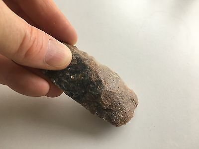 PALAEOLITHIC FLINT STONE AGE HAND TOOL 82mm