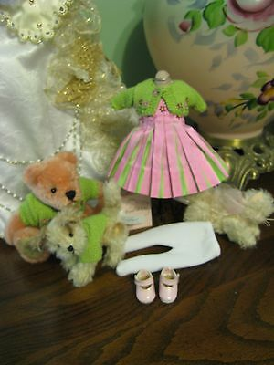 """Dress Madame Alexander 8"""" Doll Tag Outfit The Four Of Us-Shoes-Slip-Free Ship"""
